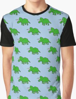 Cute Triceratops pattern Graphic T-Shirt