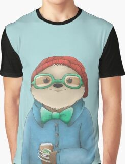 Hipster Sloth  Graphic T-Shirt