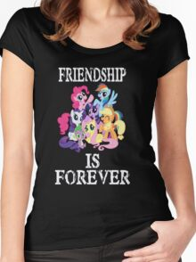 Friendship is forever [white text] Women's Fitted Scoop T-Shirt
