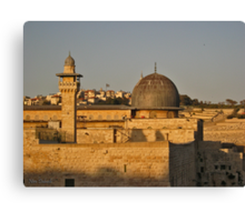 Overview Jerusalem Canvas Print
