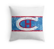 Habs 1924 Retro (distressed) Throw Pillow