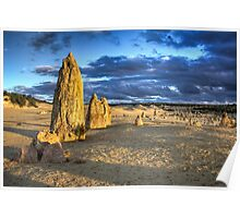 Sunset over The Pinnacles  Poster