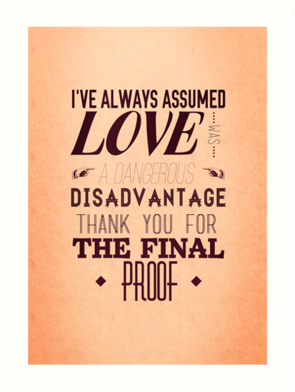 Love is a Disadvantage  by JustineWho