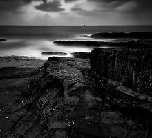 Stepping Stones of the Gods (B/W) by Deepak Varghese