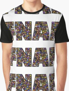 Five Nights at Freddys - Pixel art - FNAF typography (Black BG) Graphic T-Shirt
