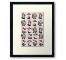 Multiple Mushrooms  Framed Print