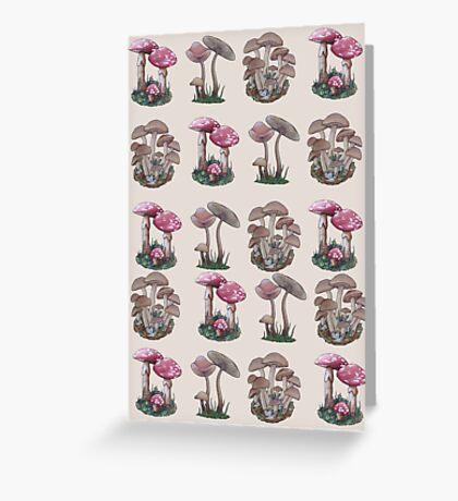 Multiple Mushrooms  Greeting Card