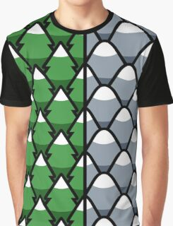 Forest and Mountains patterns Graphic T-Shirt