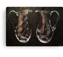 Glass pitchers Canvas Print