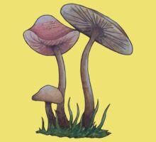 Simple Mushrooms  One Piece - Short Sleeve