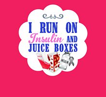 I Run On Insulin and Juice Boxes - Youth Diabetic Womens Fitted T-Shirt