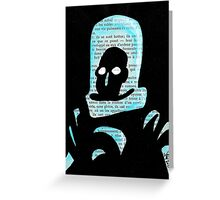 Mr Freeze Greeting Card