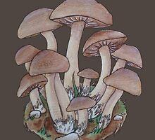 Mushroom Cluster  by Rayne Karfonta