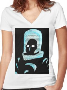 Mr Freeze Women's Fitted V-Neck T-Shirt