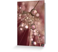 Raspberry Dandy Sparkles Greeting Card