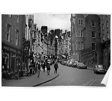 Cockburn street in black and white Poster