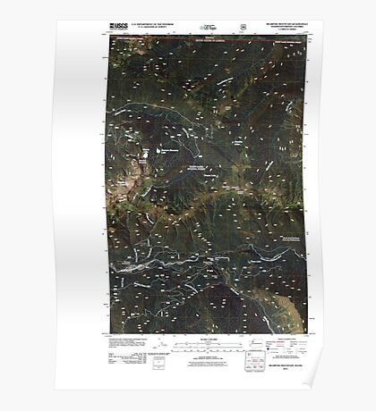 USGS Topo Map Washington State WA Bearpaw Mountain 20110425 TM Poster