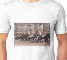The household cavalry pass Buckingham Palace ahead of Trooping The Colour Unisex T-Shirt