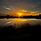 Last Dam Sunset Rays by bazcelt