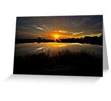 Last Dam Sunset Rays Greeting Card