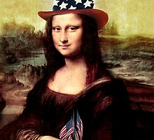 Patriotic Mona Lisa by Gravityx9
