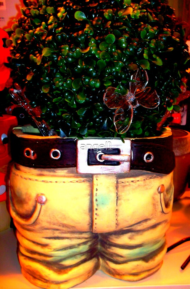 Jeans Plant Pot by ©The Creative  Minds