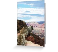 Squirrel Overlooking Grand Canyon Greeting Card