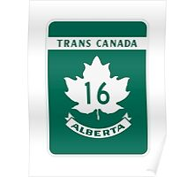 Trans Canada Hwy 16 (AB) Poster