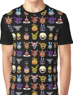 Five Nights at Freddy's - Pixel art - Multiple characters Graphic T-Shirt