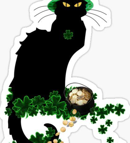 St Patrick's Day Le Chat Noir   Sticker