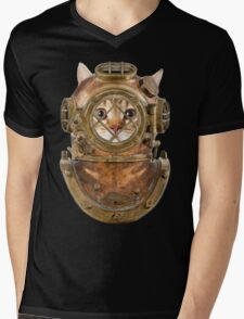 DiverCat Mens V-Neck T-Shirt
