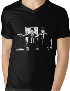 Pulp Fiction Laurel and Hardy Mens V-Neck T-Shirt