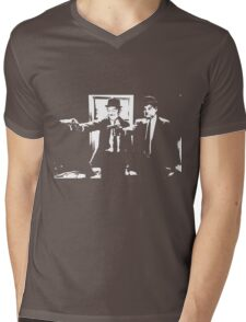 Pulp Fiction Laurel and Hardy Mens V-Neck T-Shirt