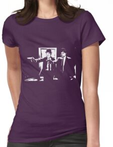 Pulp Fiction Laurel and Hardy Womens Fitted T-Shirt