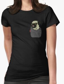 Pug You Pocket Womens Fitted T-Shirt