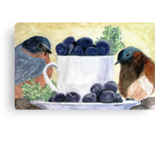 The Temptation Of Blueberries Canvas Print