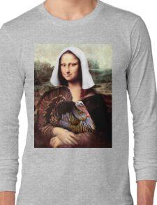 Mona Lisa Thanksgiving Pilgrim Long Sleeve T-Shirt