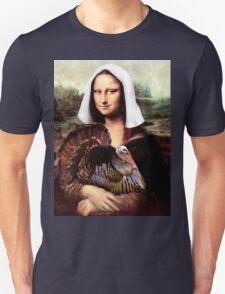 Mona Lisa Thanksgiving Pilgrim T-Shirt