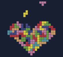 Tetris Heart Baby Tee