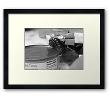 A sure way to get your cat to come to you Framed Print
