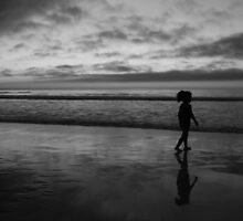 #1071 Sunset In Carmel In B&W by MyInnereyeMike