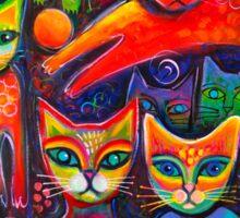 Rainbow cats acrylics Sticker
