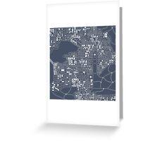 Abstract city plan Greeting Card