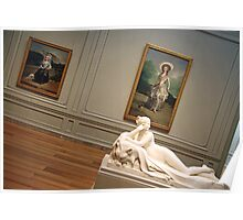 A Sculpture and Two Paintings Poster