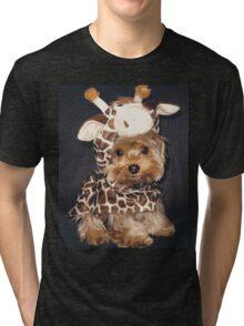 Happy Giraffe (9110515hg) Tri-blend T-Shirt