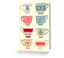 Tea Cups Greeting Card
