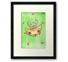 """Oro?"" Reindeer Framed Print"