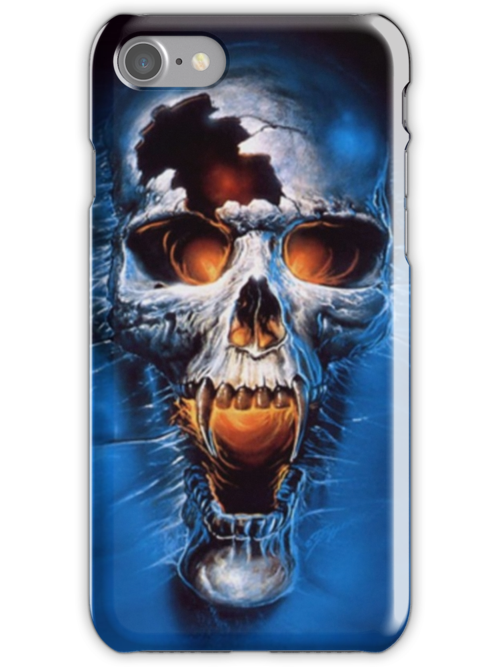 Skull Iphone case by Dan McCormick