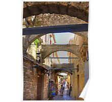 An alley in Rhodes Town Poster
