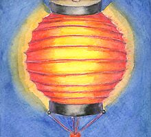 Red Paper Lantern by Amy-Elyse Neer
